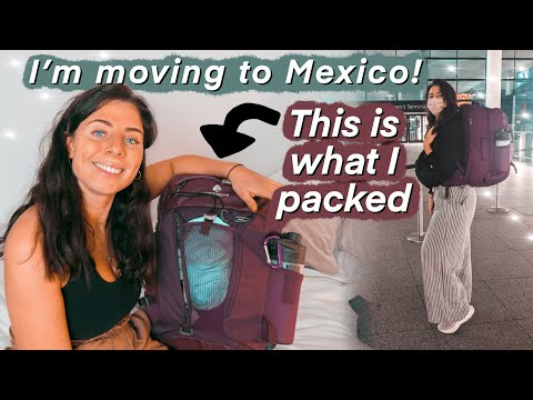 What I packed when moving to Mexico