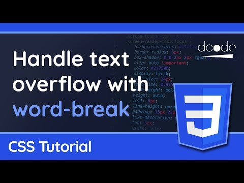 The Word-break Property In CSS - Use This To Handle Text Overflow!