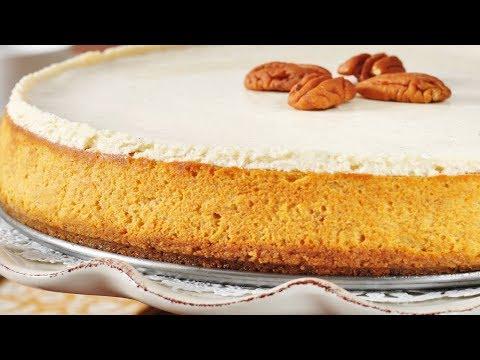 Pumpkin Cheesecake Recipe Demonstration - Joyofbaking.com