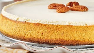 Pumpkin Cheesecake Recipe Demonstration - Joyofbaking.com