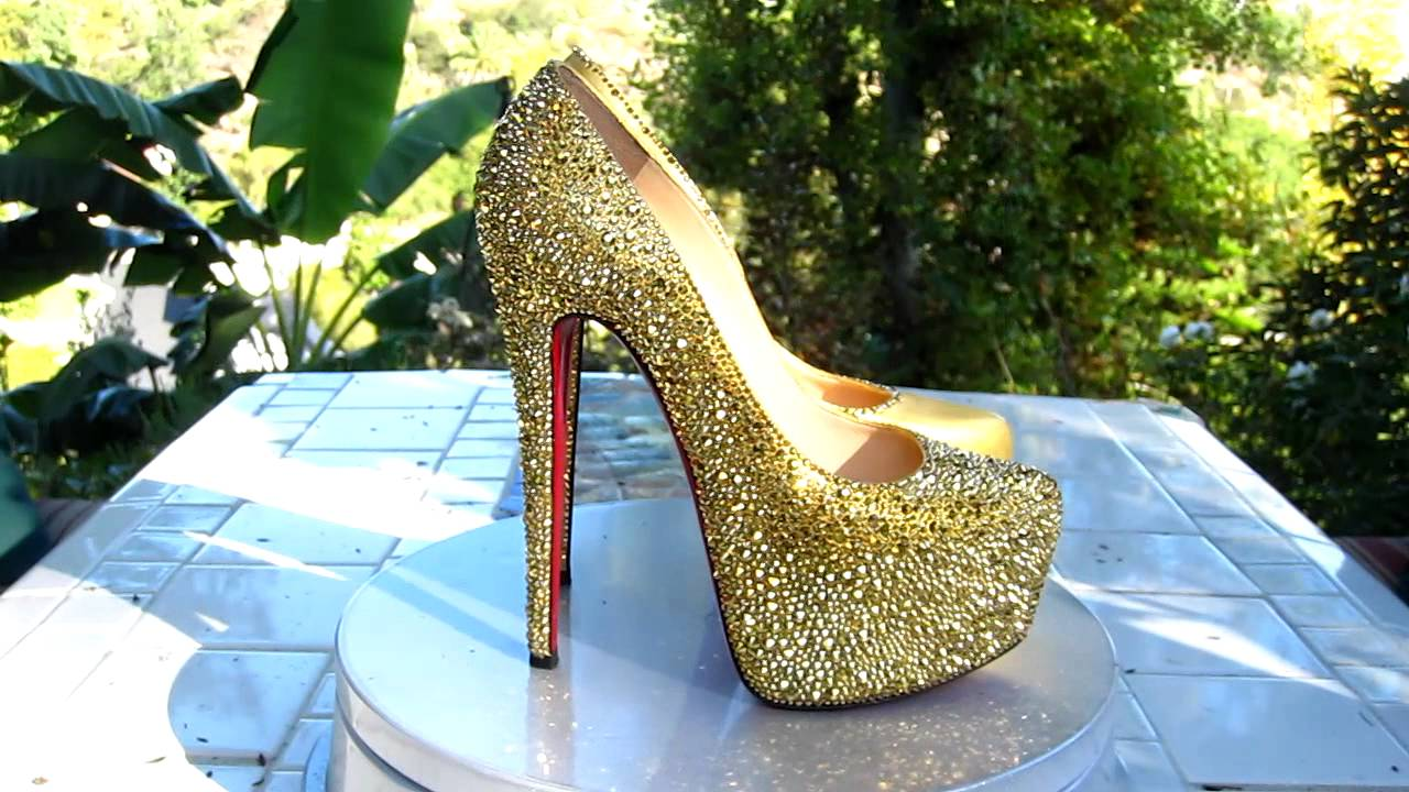 8054efc0e REDO MY SHOE Christian Louboutin DAFFODILE Strass - YouTube
