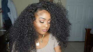 Big Curly Hair UNDER $20!!! Outre Dominican Curly + Tutorial!