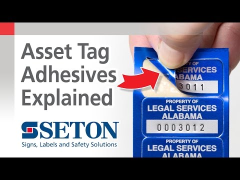 How to Choose Adhesive Backing Options for Asset ID Tags | Seton Video