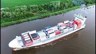 Schiffe im Nord-Ostsee-Kanal (NOK)