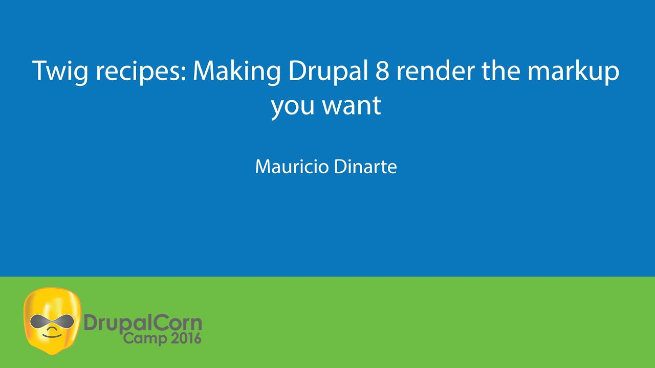 Twig recipes: Making Drupal 8 render the markup you want