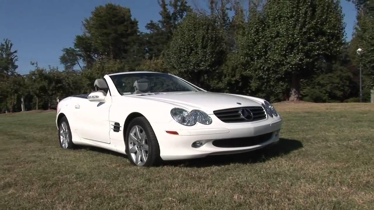2003 White Mercedes-Benz SL 500 - YouTube