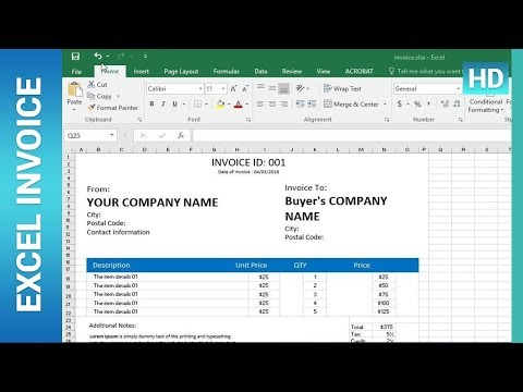 ✪ How To Create an Invoice Template in Excel : Excel Tutorial ✪