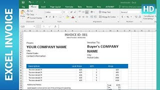 How To Create an Invoice Template in Excel : ✪ Excel Tutorial ✪