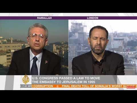 Mustafa Barghouti, Hussein Ibish exchange on @AJInsideStory on US Jerusalem recognition issue