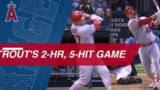 Mike Trout goes 5-for-5 with 2 HRs, 5 RBIs vs. White Sox