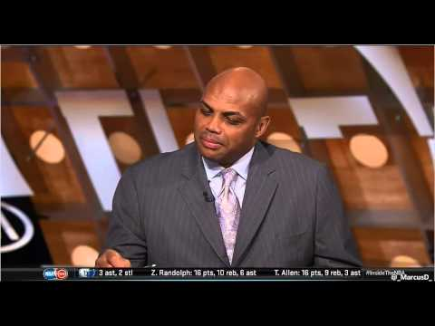 Inside the NBA TNT Shaq makes a comment to Charles Barkely about kissing Dick Bavetta on the mouth