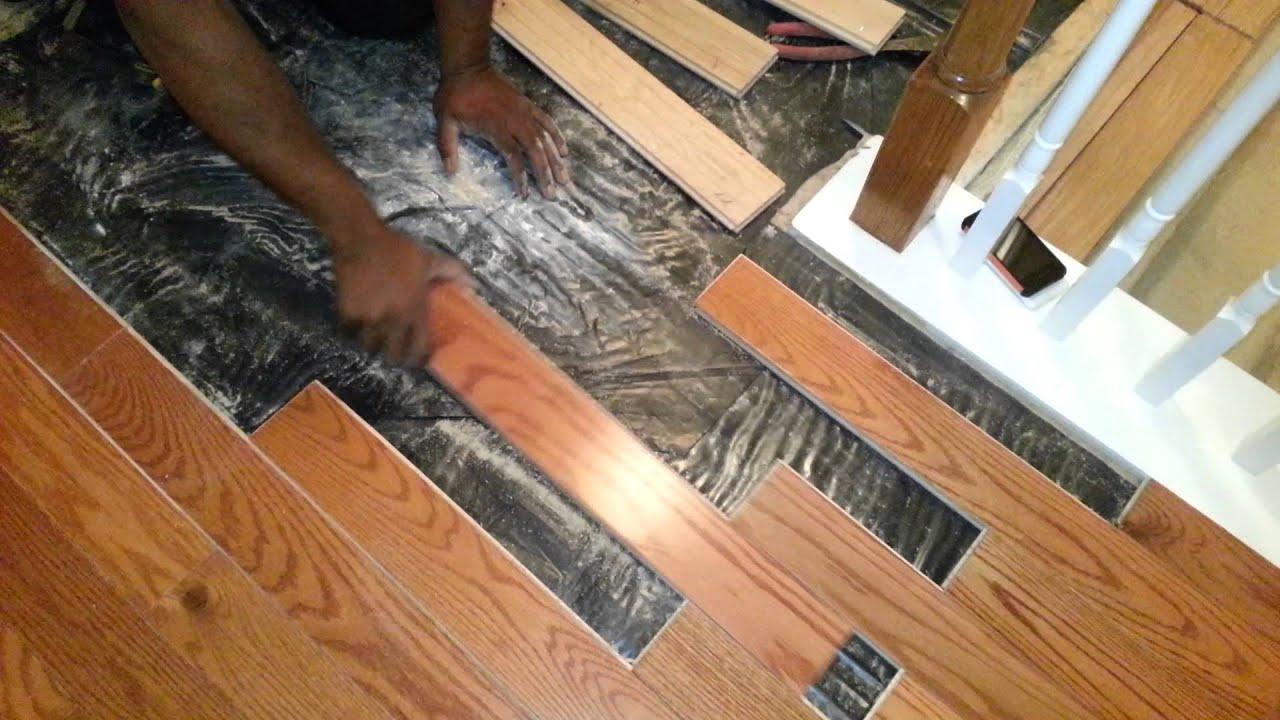 Bad hardwood floor installation - YouTube