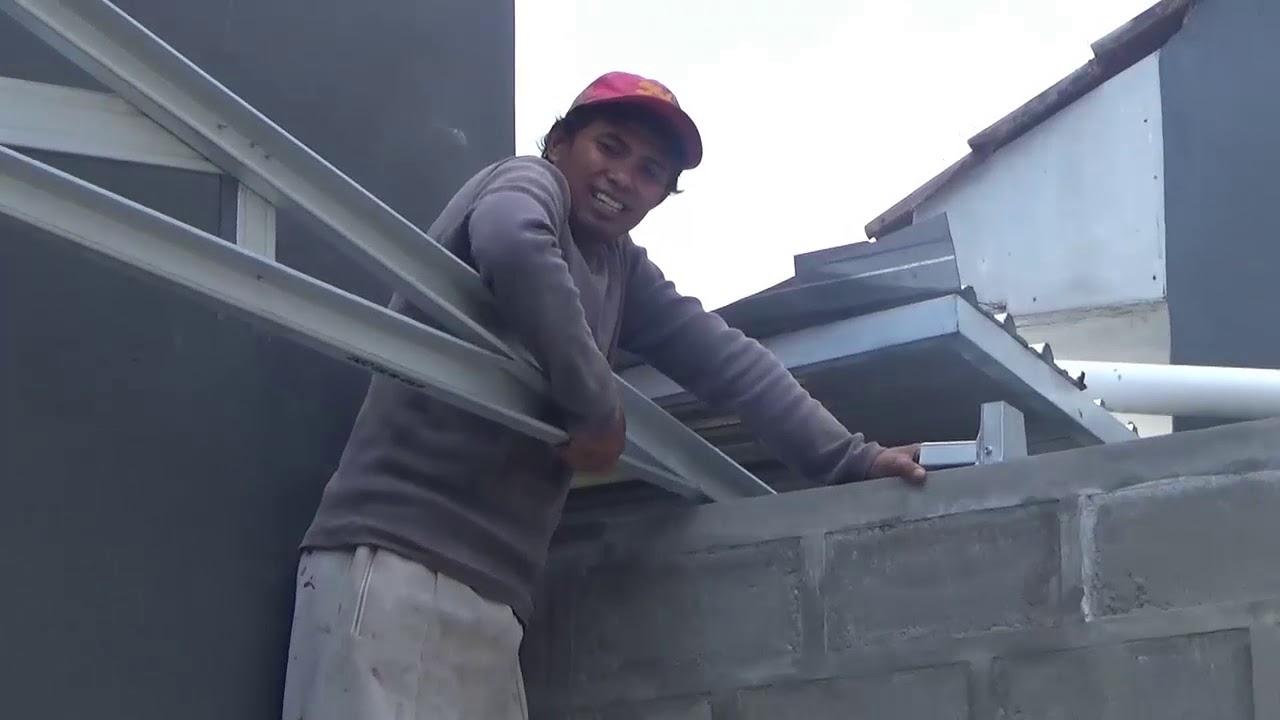 kanopi baja ringan untuk dapur atap di boro kulon purworejo indo