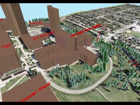 3D Visualization built in ArcMap & ArcScene 10.4 - SAIT Campus, Calgary AB