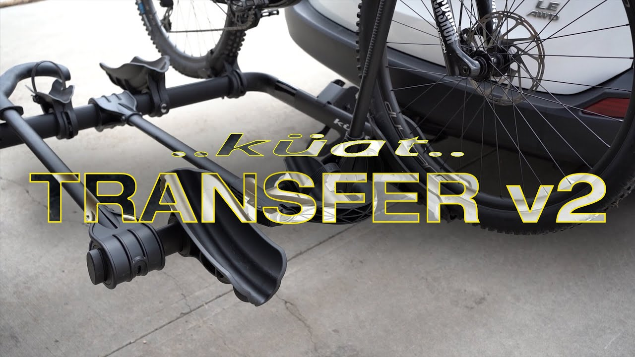 kuat transfer v2 review hitch mounted bike rack unboxing install 2021 4k
