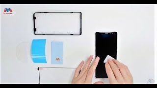 How to Install a Galaxy Note 8 Full Adhesive/Full Glue Tempered Glass Screen Protector | MYBAT
