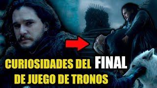 """9 Curiosidades / ERRORES DEL FINAL de Juego de Tronos 8x06 """"El trono de hierro"""""""