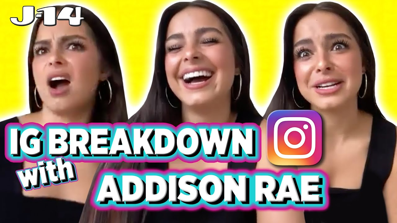 Addison Rae Reacts to Old Instagram Pics | IG Breakdown