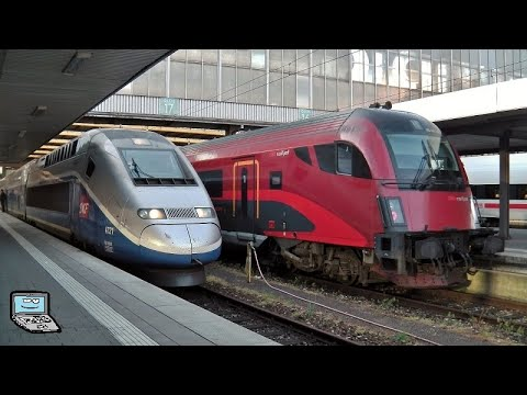 München Hbf [frühmorgens] mit TGV (+Besichtigung), ICEs (+Hupe), S-Bahnen in der Haupthalle und mehr