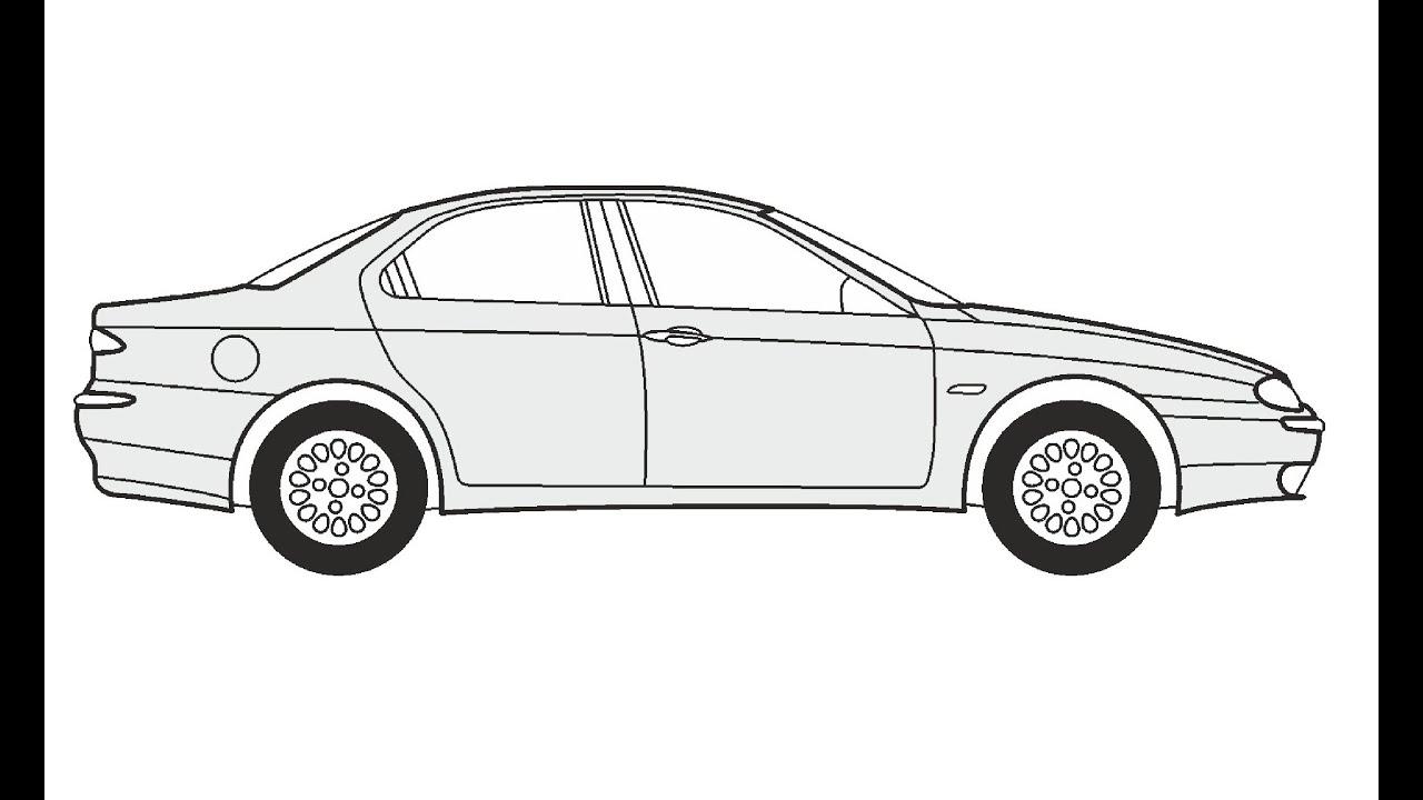 How to Draw an Alfa Romeo 156 / Как нарисовать Alfa Romeo