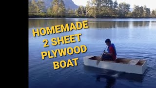 Our 2 Sheet Plywood Homemade Boat