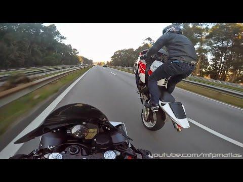 Honda CBR 1000RR 2004 - Wheelies   Burnouts