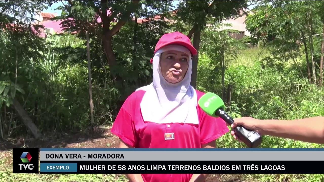 Superação Mulher de 57 anos limpa terrenos baldios em Três Lagoas