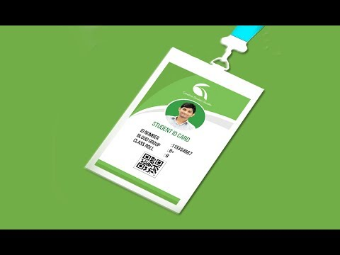 Student ID Card Design Tutorial - Photoshop CC