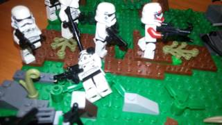 Обзор на разрушаную базу клонов lego star war