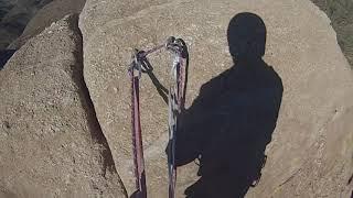 Humpty Dumpty lead climb 5.7 Texas Canyon