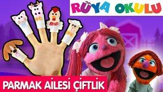 Parmak Ailesi Türkçe | Çiftlik Hayvanları | Çizgi Film Bebek Şarkıları | RÜYA OKULU