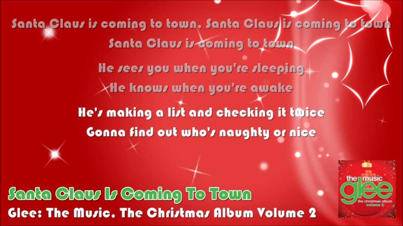 santa claus is coming to town lyrics pdf