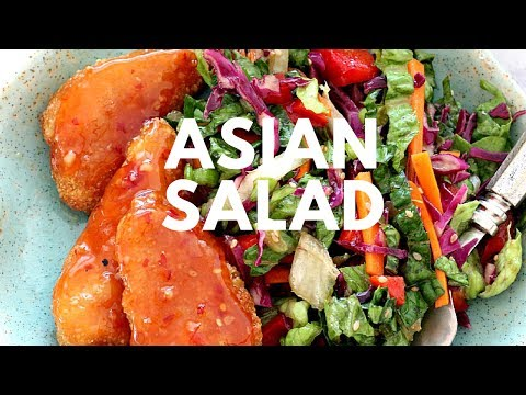 Asian Chopped Salad with Garlic Sesame Vinaigrette Recipe