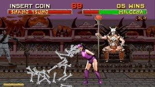 Mortal Kombat 2 arcade Mileena Gameplay Playthrough