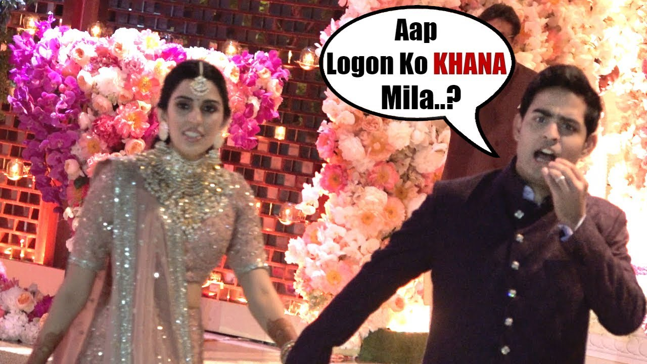 Akash Ambani KIND GESTURE For Media Asking Them for FOOD | Akash Ambani &  Shloka Mehta's Engagement