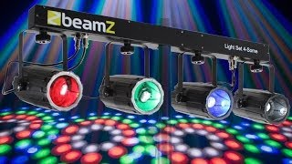 Beamz 4-SOME Colour LED Disco Party Moonflower Light Bar DJ DMX Lighting System