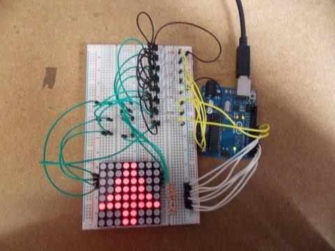 Letreiro com Matriz de Leds 8x8 e Arduino ou Garagino