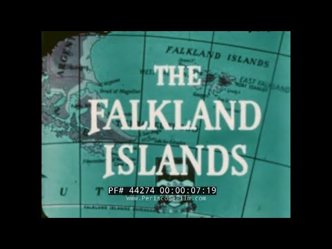 1950s FALKLAND ISLANDS TRAVELOGUE FILM   BRITISH COLONIAL OFFICE PORT STANLEY  PEAT GATHERING 44274