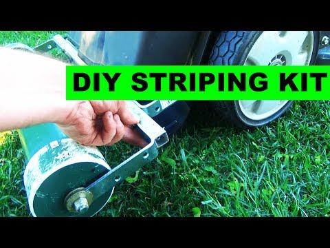 Improved DIY Lawn Striping Kit for Honda HRX217 Self Propelled Lawn Mower