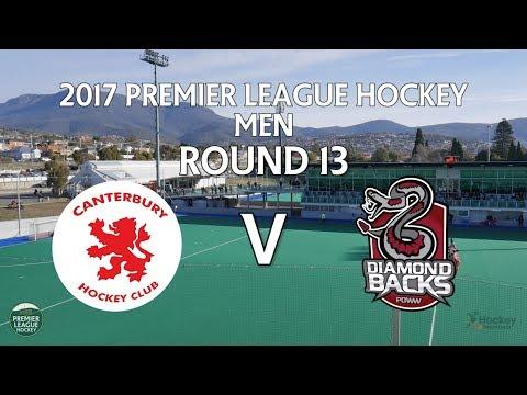 Canterbury v Diamondbacks   Men Round 13   Premier League Hockey 2017