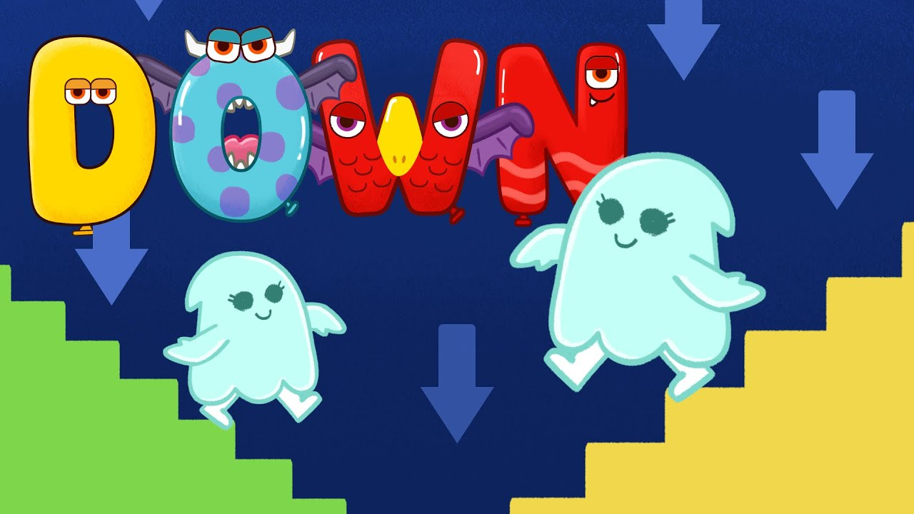 Open Close song for kids - ABC Monsters Opposite words Nursery Rhymes