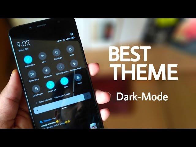 Best Theme Of the week in MIUI 10-Dark mod   redmi note 5 pro