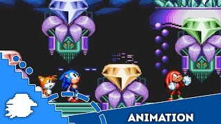What if Sonic Mania was Sonic 3? Hidden Palace cutscene [Sprite animation]