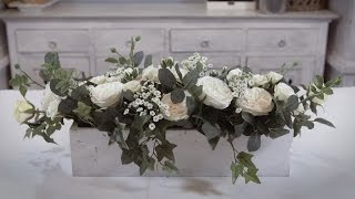 Rose and Ivy Table Arrangement Floristry Tutorial