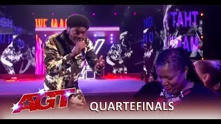Joseph Allen: Singer Rapper Performs HEARTFELT Song To His Mom | America's Got Talent 2019