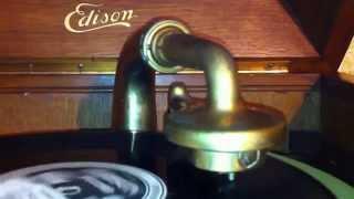 Thomas Edison History Diamond Disc Record Player Phonograph O Sole Mio