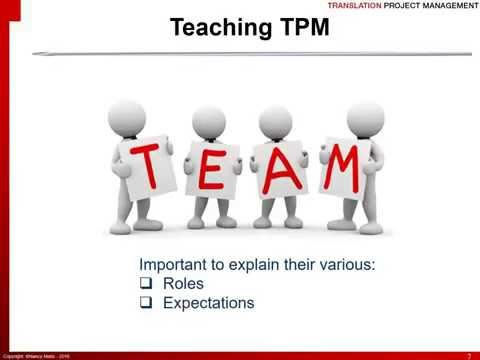 Teaching Translation Project Management