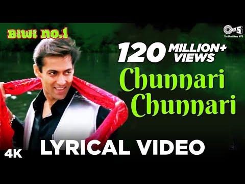 Chunnari Chunnari [Lyrical] Salman Khan \u0026 Sushmita Sen | Anu Malik | Biwi No 1 | 90's Hits