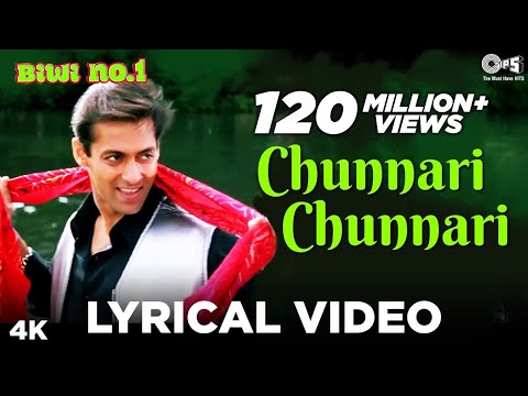 Chunnari Chunnari Lyrical Video - Biwi No.1 | Salman Khan & Sushmita Sen | Anu Malik