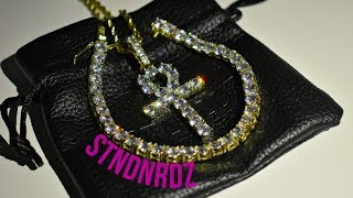 STNDRDZ JEWELRY REVIEW! (ICED OUT ANKH PENDANT AND TENNIS BRACELET)